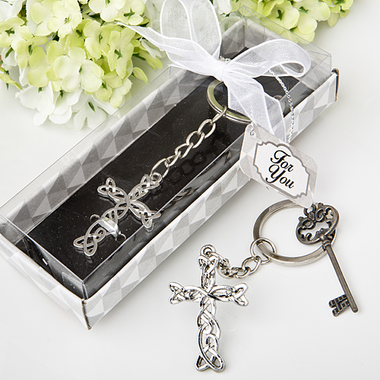 Silver Cross Keychains
