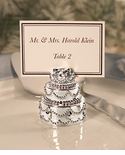Silver Plated Wedding Cake Placecard Holders