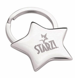 Silver Star Party Favor - Keytag