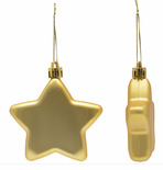Star Christmas Ornaments Acrylic Shatterproof