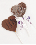 Sweet 16 Chocolate Heart Favor