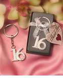 Sweet 16 Crystal Key Chain Favors