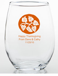 Thanksgiving Table Favors Glass