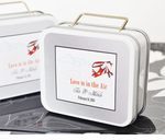 Travel Theme Wedding Suitcase Tin