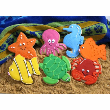Under The Sea Theme Cookies - Ocean Critters