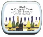 Vintage Year Mint Tins for 60th Birthday Favors