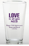 Wedding Anniversary Personalized Glasses