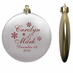Wedding Favor Ornaments Flat Shatterproof