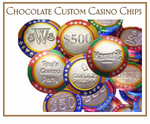 Wedding Personalized Chocolate Casino Chips