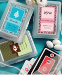 Wedding Playing Cards - Personalization on Sticker ONLY