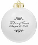 White Wedding Favors Ornaments Sale