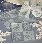 Winter Baby Shower Favors - Coasters (Set of 2) OUT OF STOCK TIL 1-14-2014