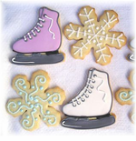 Winter Wonderland Theme Ice Skate Cookies