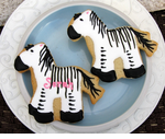 Zebra Favors Cookie