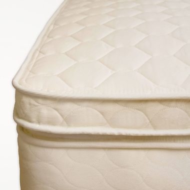 "3"" Quilted Organic Cotton Twin Comfort Toppers by Naturepedic"