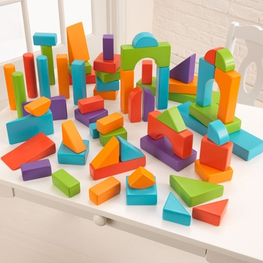 Kidkraft 60 Piece Wooden Block Set in Bright Colors - Click to enlarge