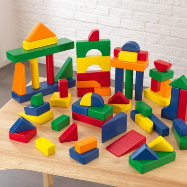 Kidkraft 60 Piece Wooden Block Set in Primary Colors - Click to enlarge