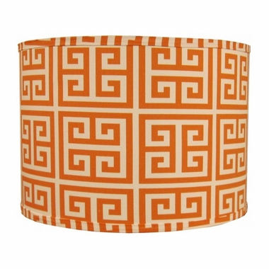A'Mazing Orange Framed Print Lampshade by Doodlefish - Click to enlarge