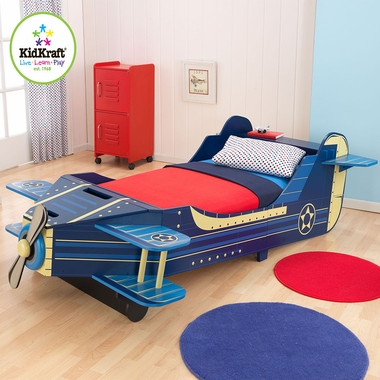 Airplane Convertible Toddler Bed by KidKraft