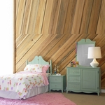Aqua Green Gabby Twin Size Bed in a Box by Powell Furniture