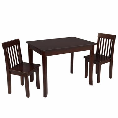 Kidkraft Avalon Table II and Chairs Set in Espresso - Click to enlarge