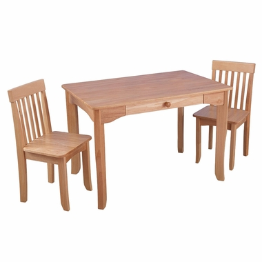 Kidkraft Avalon Table II and Chairs Set in Natural - Click to enlarge