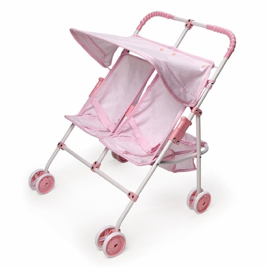 Badger Basket Double Umbrella Doll Stroller
