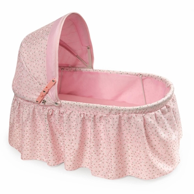 Badger Basket Pink Rosebud Doll Cradle - Click to enlarge