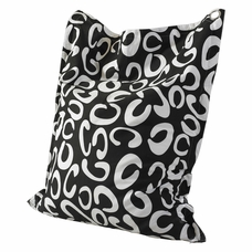 black and white c pattern bean bag by powell furniture - Childrens Bean Bag Chairs