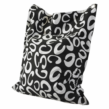 Black and White C Pattern Bean Bag by Powell Furniture - Click to enlarge