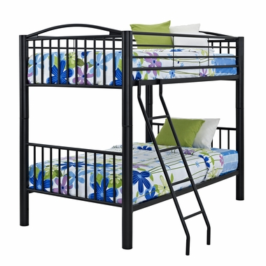 Black Full Bunk Bed by Powell Furniture - Click to enlarge