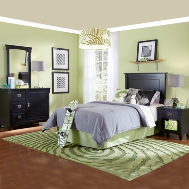 Black Mission Twin Size Bedroom in a Box by Powell Furniture