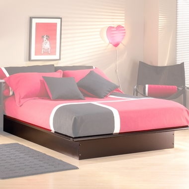 Black Onyx Step One Full/Double Platform Bed by SouthShore - Click to enlarge