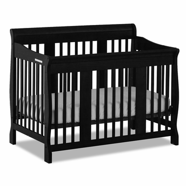 Black Tuscany 4 in 1 Convertible Crib by Storkcraft - Click to enlarge