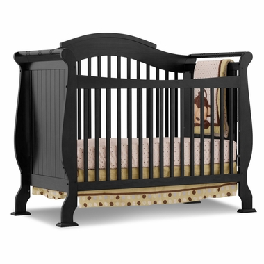 Black Valentia Fixed Side Convertible Crib by Storkcraft - Click to enlarge