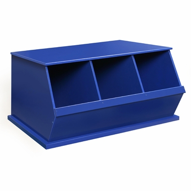 Blue Three Bin Storage Cubby by Badger Basket - Click to enlarge
