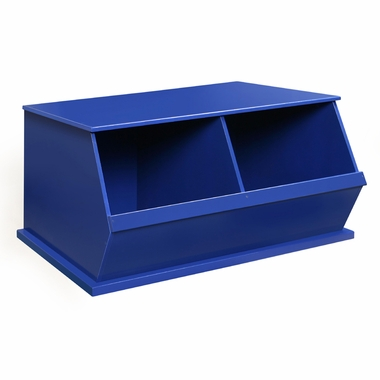 Blue Two Bin Storage Cubby by Badger Basket - Click to enlarge