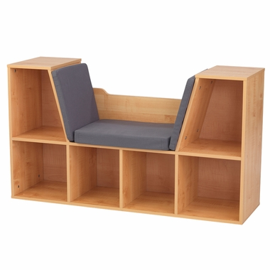 Kidkraft Bookcase with Reading Nook in Natural - Click to enlarge