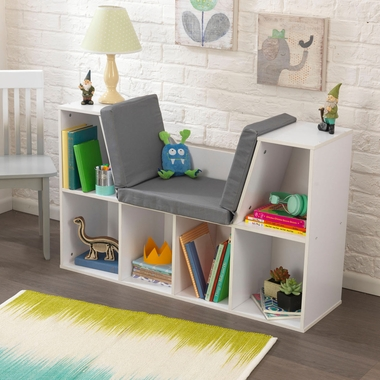 Kidkraft Bookcase with Reading Nook in White - Click to enlarge