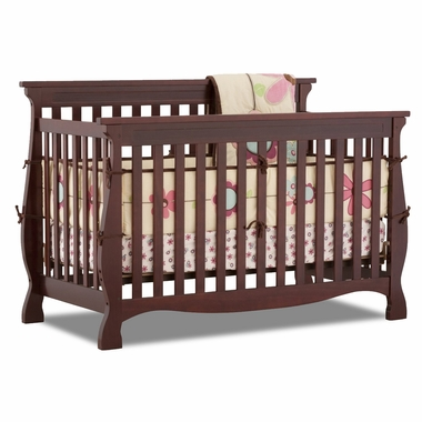Cherry Carrara 4 in 1 Fixed Side Convertible Crib by Storkcraft - Click to enlarge