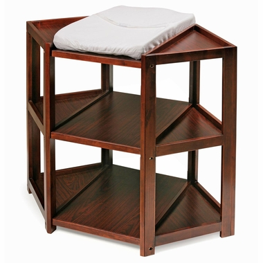 Cherry Diaper Corner Baby Changing Table by Badger Basket - Click to enlarge
