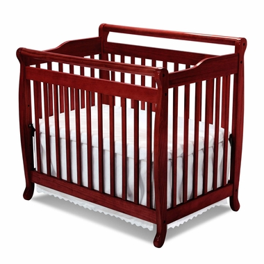 Cherry Emily Mini 2 in 1 Convertible Sleigh Crib by DaVinci - Click to enlarge