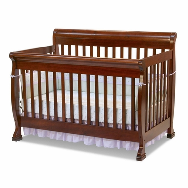 Cherry Kalani 4 in 1 Convertible Sleigh Crib by DaVinci - Click to enlarge