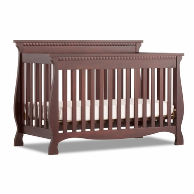Cherry Venetian 4 in 1 Fixed Side Convertible Crib by Storkcraft - Click to enlarge