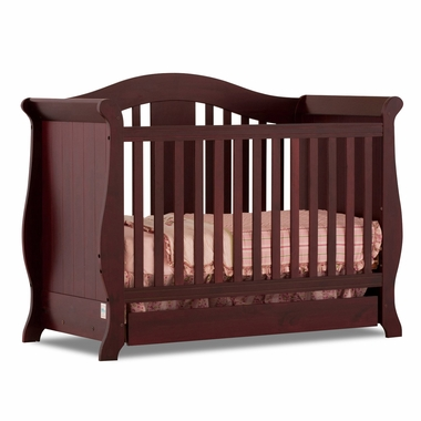 Cherry Vittoria 3 in 1 Fixed Side Convertible Crib by Storkcraft - Click to enlarge