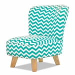 Chevron Blue Pop Mini Chair by Babyletto