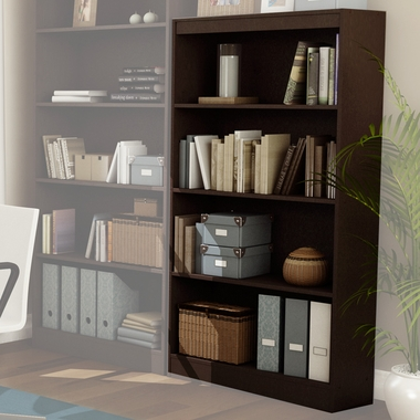 Chocolate Axess 4 Shelf Bookcase by SouthShore - Click to enlarge