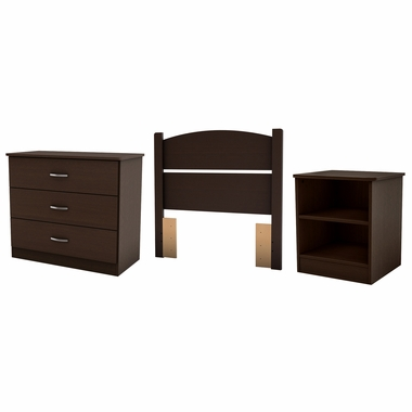 Chocolate Libra Twin 3-Piece Bedroom in a Box by South Shore - Click to enlarge
