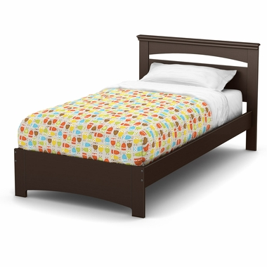 Chocolate Libra Twin Bed Set by South Shore - Click to enlarge