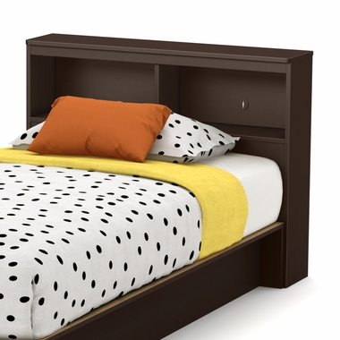 Libra Twin Bookcase Headboard Inchocolate 3159098 By South